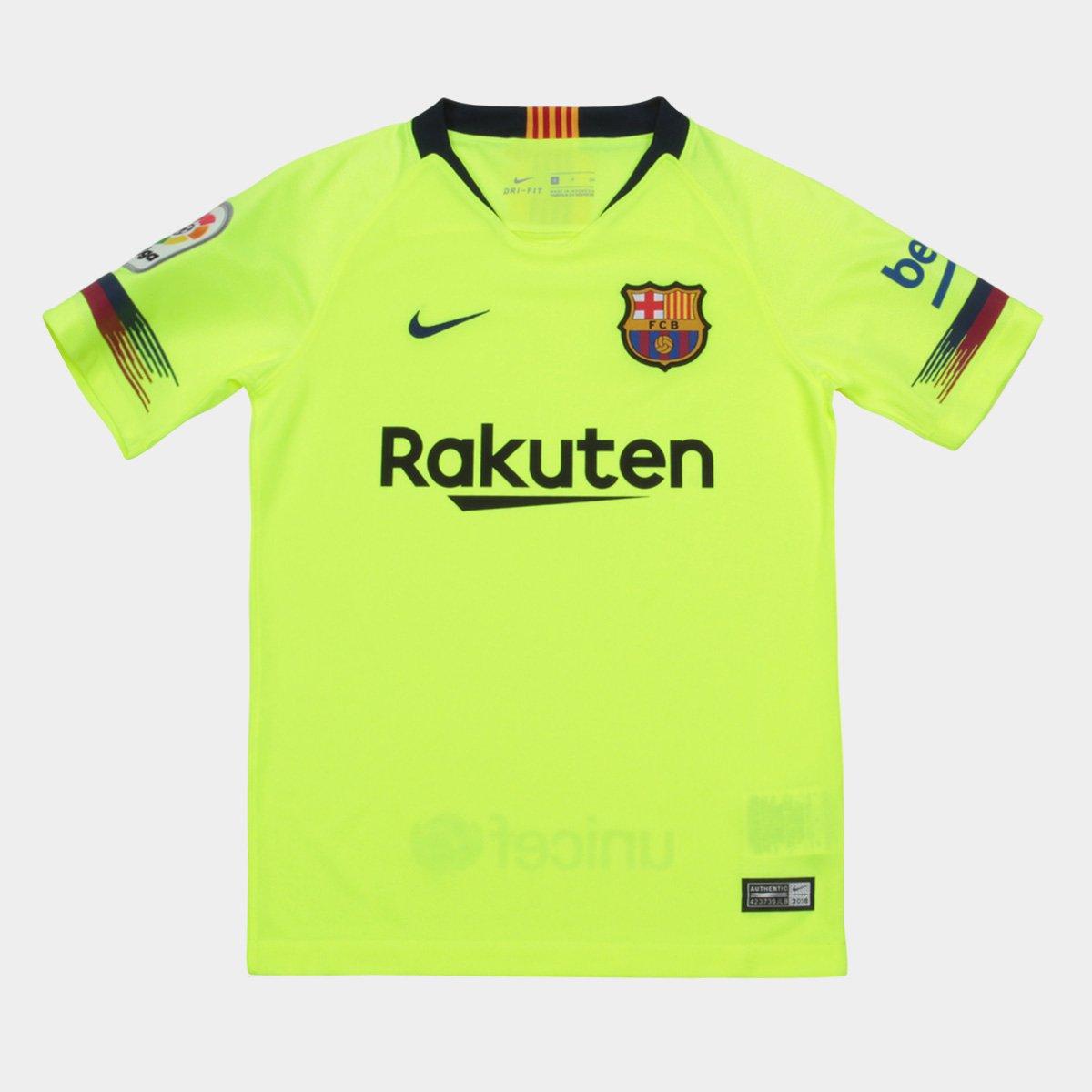 6445ad6356a Camisa Barcelona Infantil Away 2018 s n° - Torcedor Nike