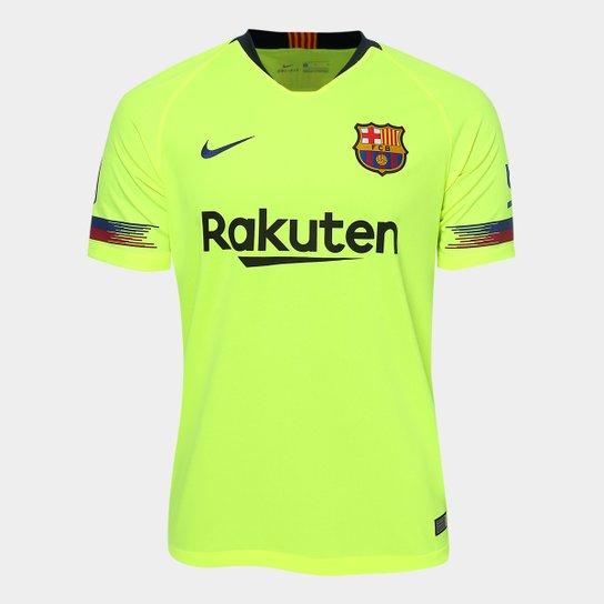 47c17386e7 Camisa Barcelona Away 2018 s n° - Torcedor Nike Masculina - Verde ...