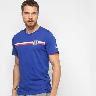 2fe9a1ac8224e Camiseta Chelsea Nike Tee Crest Masculina