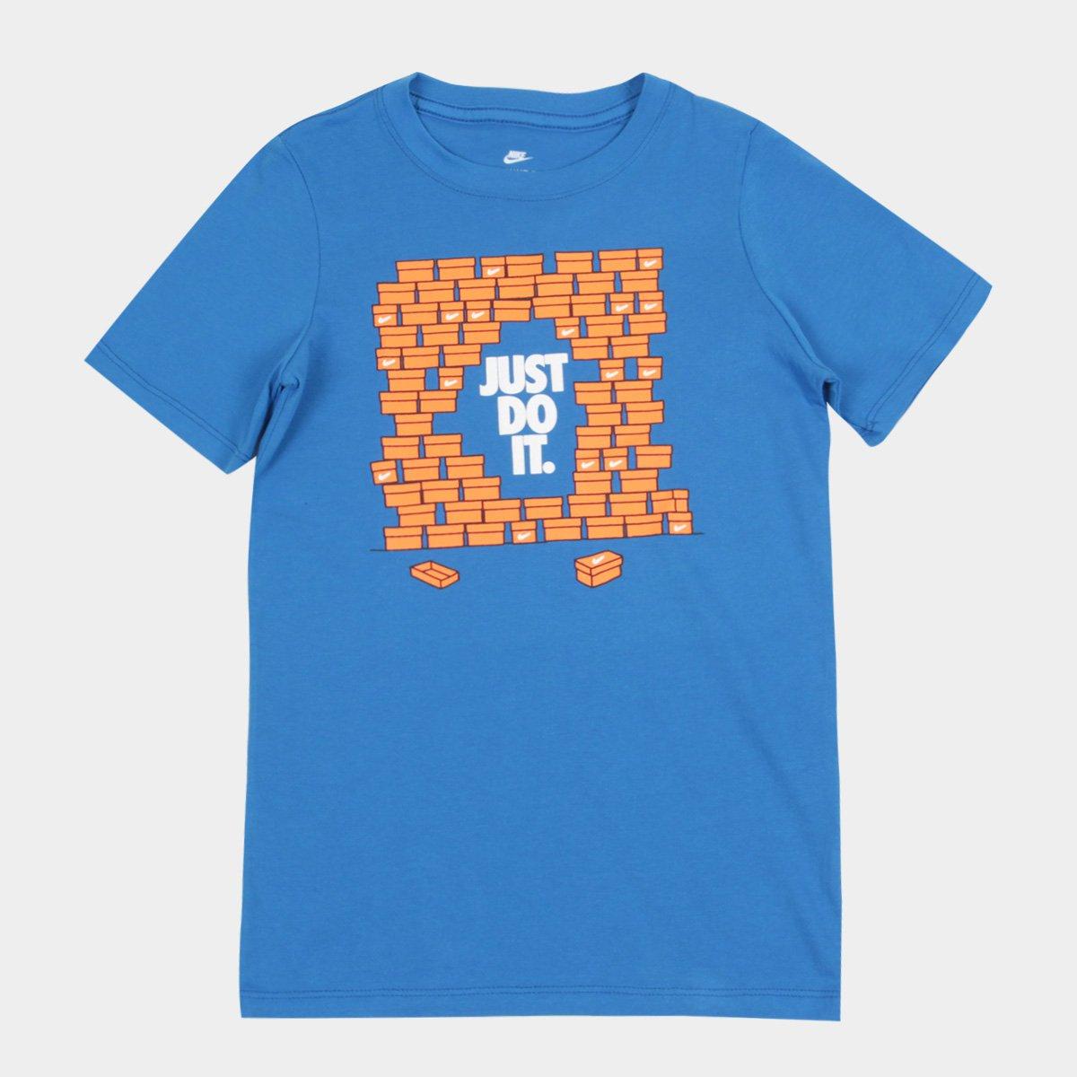 d4fa87b7dc Camiseta Infantil Nike B Nsw Shoebox Jdi
