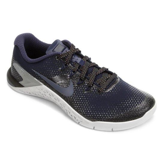 ... Tênis Nike Metcon 4 Metalic Feminino - Azul e Preto - Compre Agora . a95167da74946