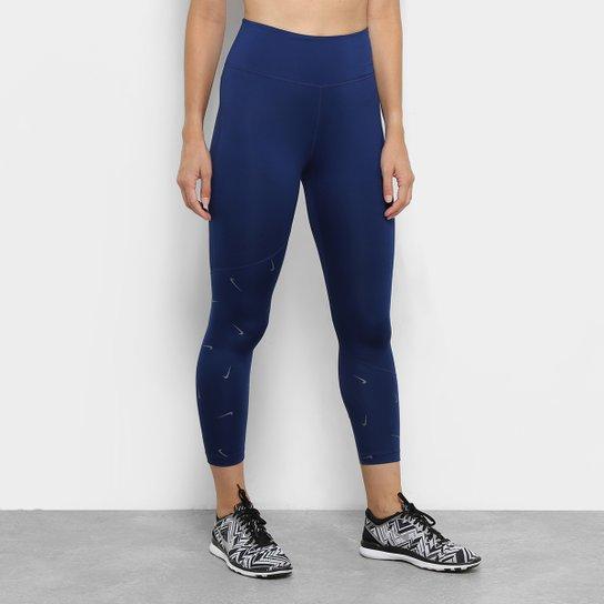 75d79710b6262 Calça Legging Nike One Crop Printed Feminina - Azul | Netshoes