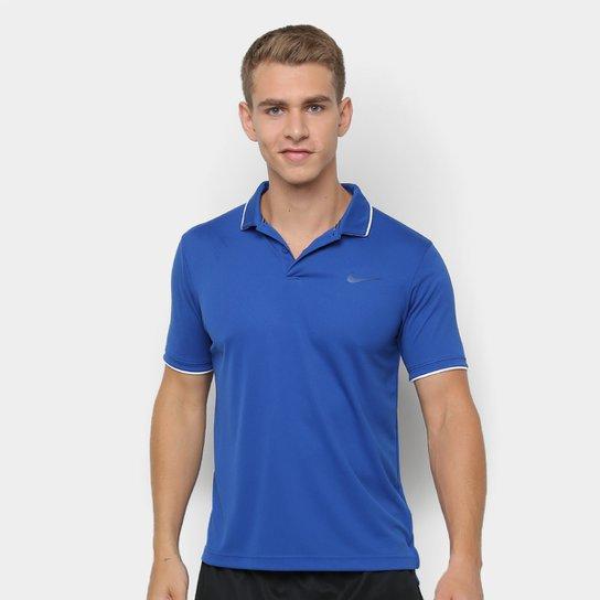 94b1259854e Camisa Polo Nike Nkct Dry Team Masculina - Azul - Compre Agora ...