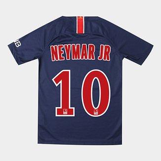 Camisa Paris Saint-Germain Juvenil Home 18 19 Nº 10 Neymar Jr Torcedor Nike eebeb6ae75ac3