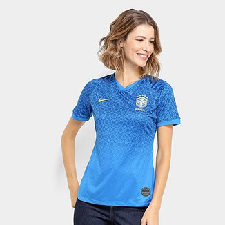 da7f81f518f8 Camisa Seleção Brasil II 19/20 s/nº Torcedor Nike Feminina