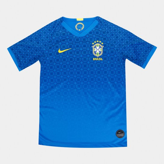 ffafd5436 Camisa Seleção Brasileira Infantil II 19 20 s n° Torcedor Nike - Azul