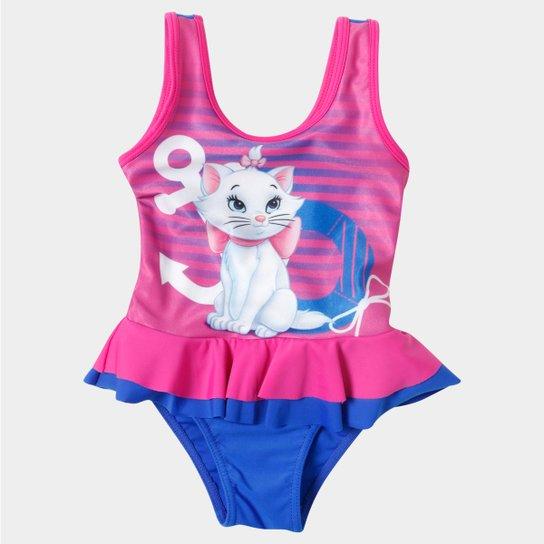 b9a0fd883948 Maiô Marie Infantil - Azul+Pink