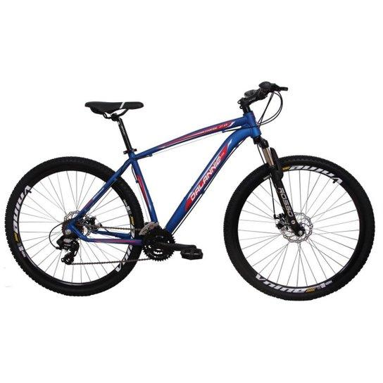 67a74a1ee Bicicleta Aro 29 Alumínio 24V Duplo Freio A Disco - Azul