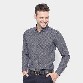 943f90188 Camisa Manga Longa Jeans Masculina Bivik Azul - Compre Agora