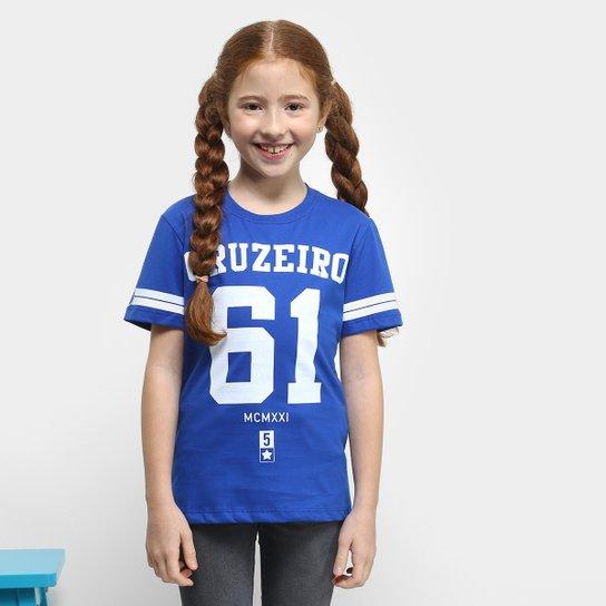 44f8195aee Camiseta Cruzeiro Infantil 61 - Azul - Compre Agora