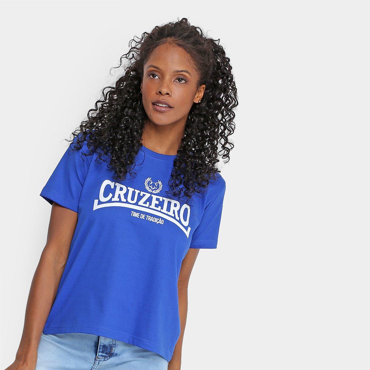 44%OFF Camiseta Cruzeiro Time de Tradição Feminina 78e1e59aaa4b8
