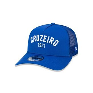 Boné 940 Cruzeiro Futebol Aba Reta Azul New Era 90bed28a461