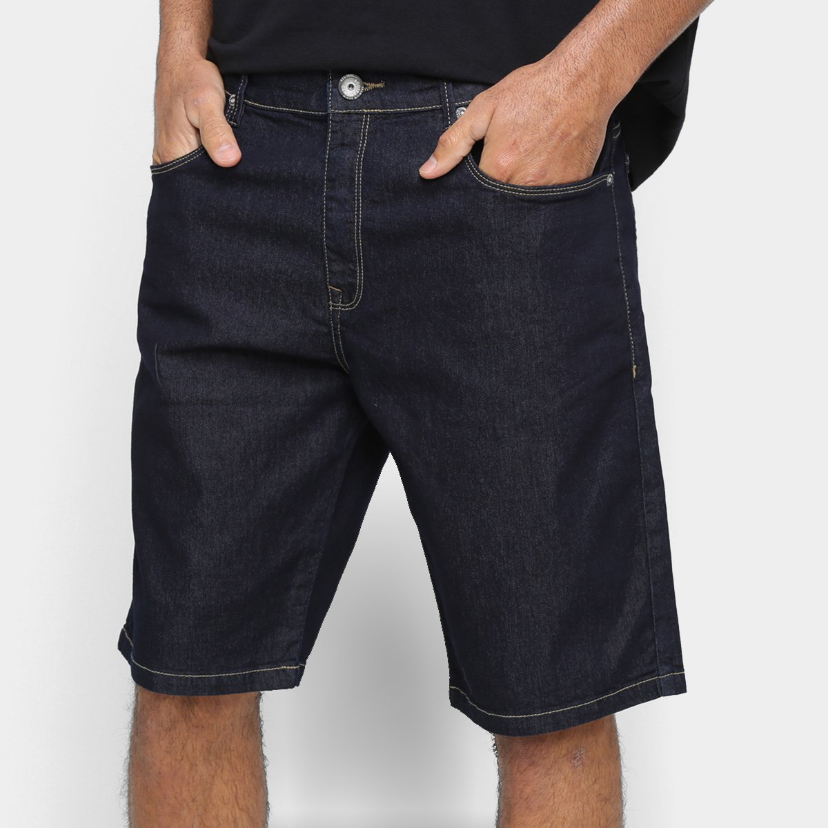 Bermuda Jeans Acostamento Lisa Masculina