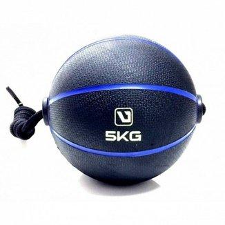 dab15a153a2fa Bola Liveup De Peso Medicine Ball Com Corda 5Kg