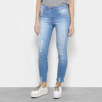 Calça Jeans Skinny Cropped My Favorite Thing Texturizada Feminina 6e9c9f92700