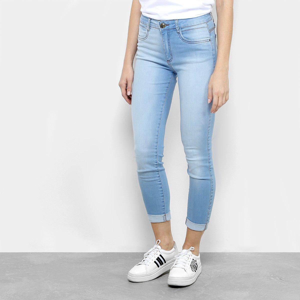 Calça Jeans Skinny Cropped My Favorite Thing Cintura Média Feminina