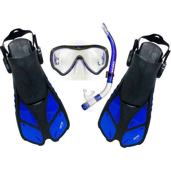 dfe61647f5e Kit Mergulho Máscara+Nadadeira+Snorkel Cetus Gills - Compre Agora ...