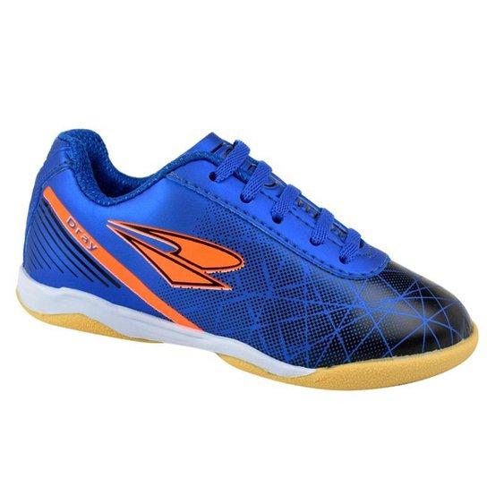 8f6464efa43d8 Chuteira Futsal Infantil Dray Drayzinho - Azul e Preto - Compre ...
