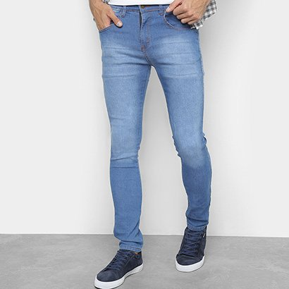 Calça Skinny Tbt Jeans Delavê Masculina