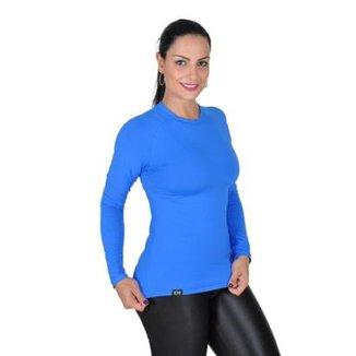 18dd95e713 Camiseta Less Now Fator Proteção Solar 50 Uva uvb Feminina