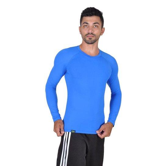 922109becb221 Camiseta Less Now Fator Proteção Solar 50 Uva uvb Masculina - Azul ...
