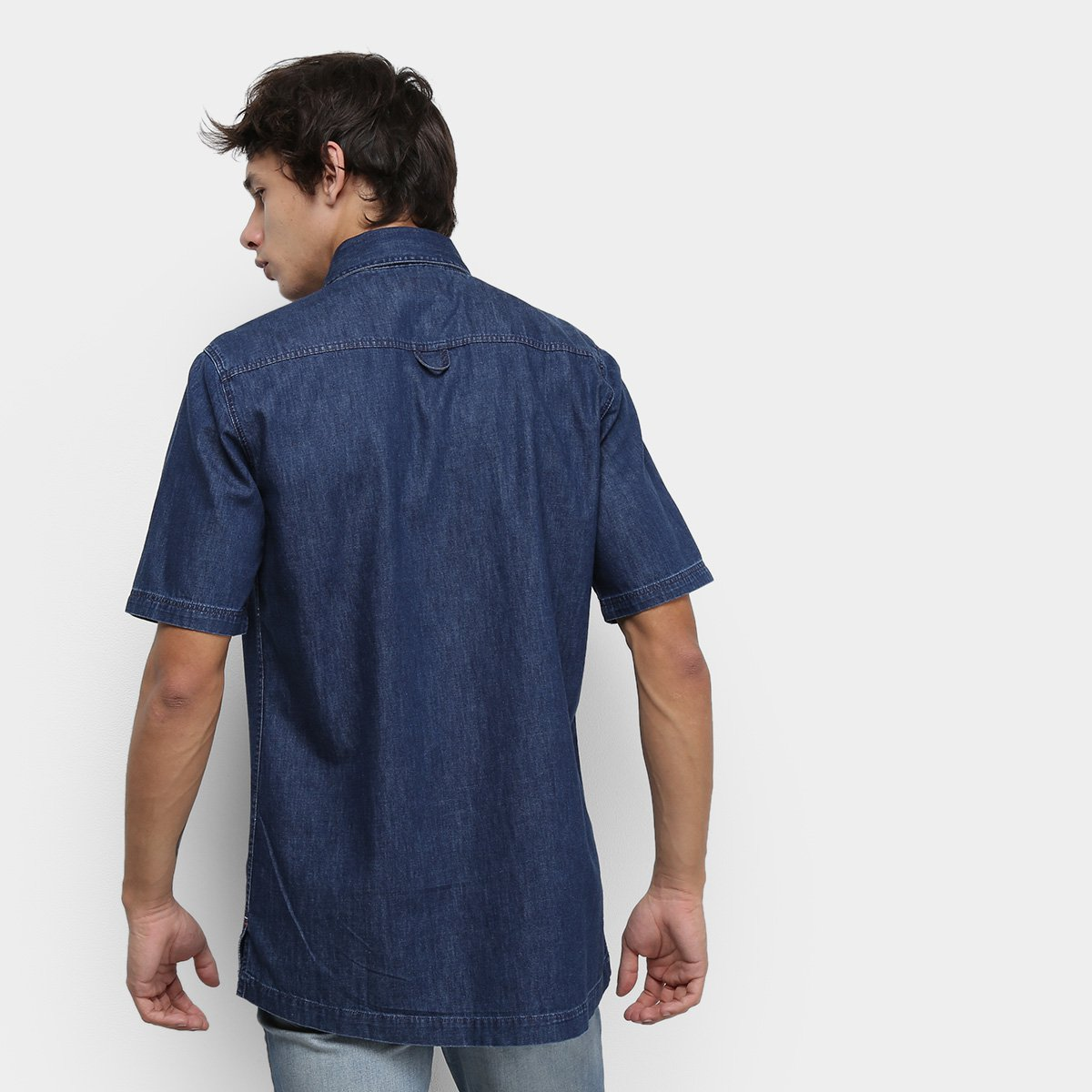 Foto 2 - Camisa Jeans Tommy Jeans Workerwear Denim Masculino