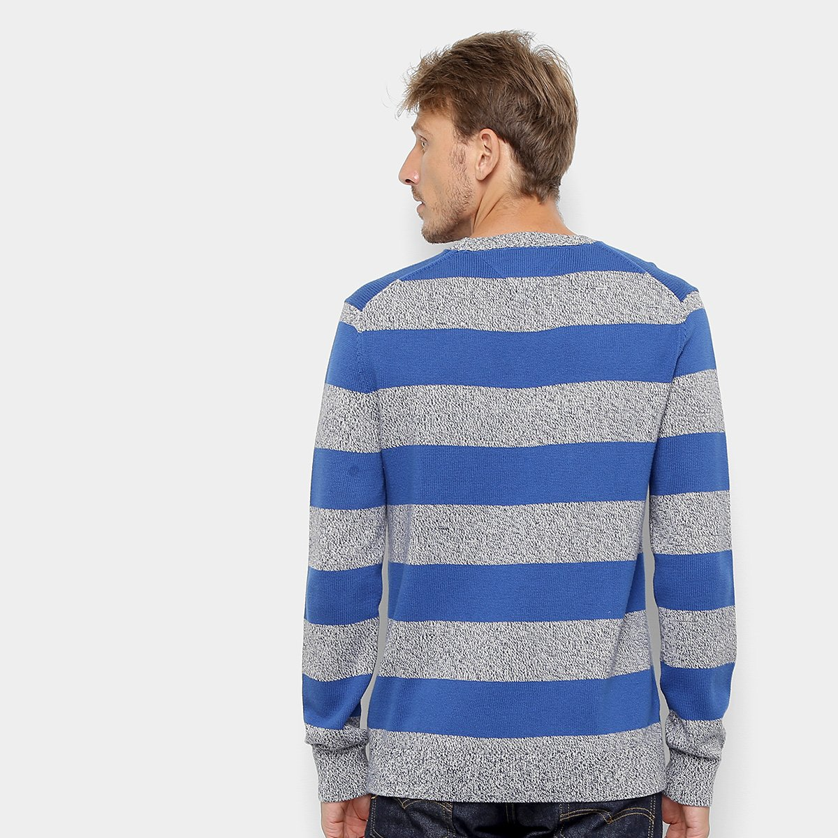 Foto 2 - Malha Tommy Jeans Rugby Stripe Sweater Masculina