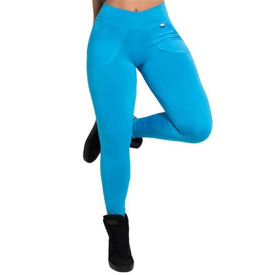 32d44ade8 Calça legging Kaisan Legging Lisa com Bolso Feminina - Azul - Compre ...
