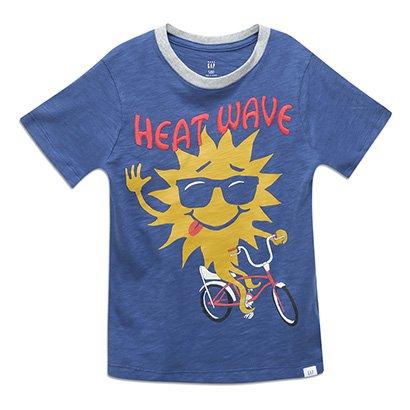 Camiseta Infantil GAP Malha 293290B MASCULINO
