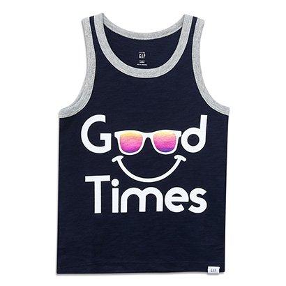 Camiseta Bebê GAP Malha Good Times Masculina