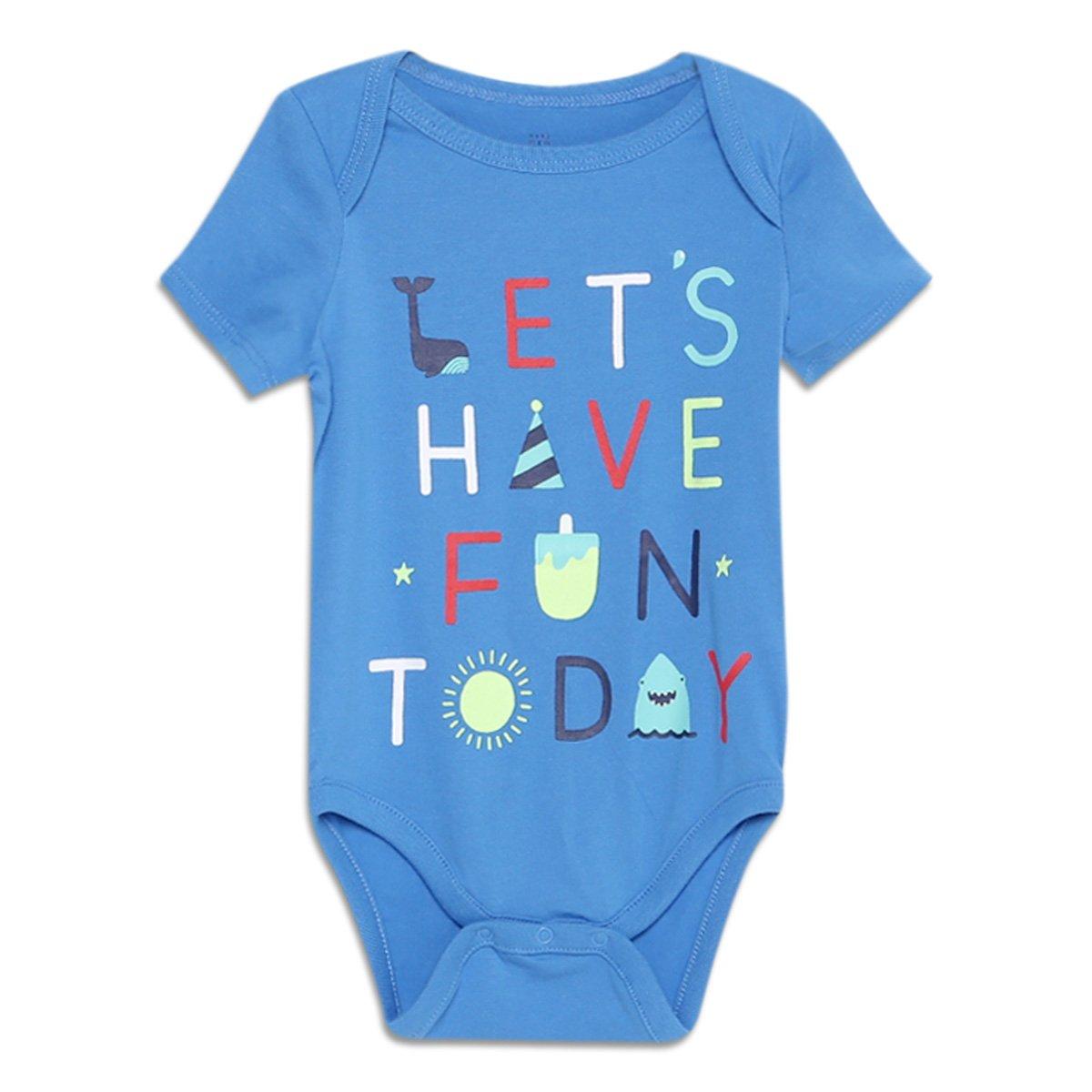 Body Bebê GAP Malha Estampado Masculino