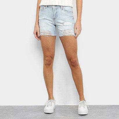 Short Jeans GAP Cintura Média Destroyed Feminino