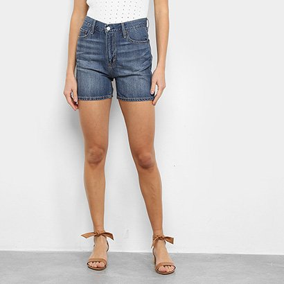 Short Jeans GAP Cintura Alta Feminino