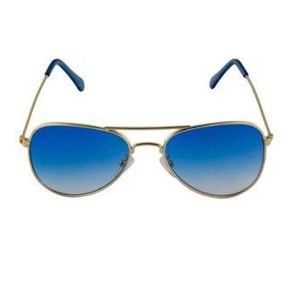 37331dc8767f9 Óculos de Sol Khatto Infantil Aviador Station Feminino