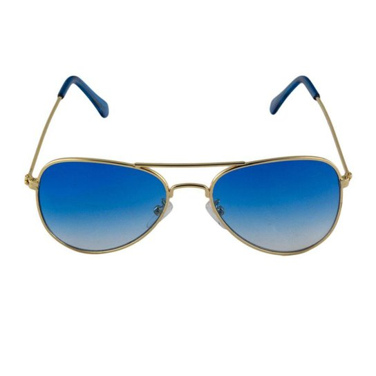 Óculos de Sol Khatto Infantil Aviador Station Feminino - Azul ... 95d0c030ea