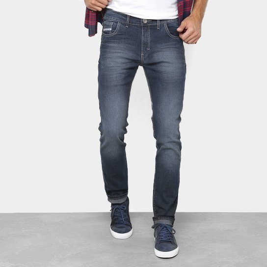 d060bdb25 Calça Jeans Skinny Preston Estonada Masculina - Azul | Netshoes