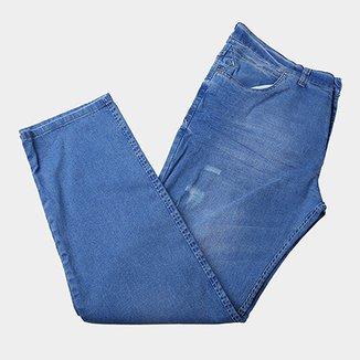 3fdeed35c Calça Jeans Plus Size Preston com Puídos Masculina