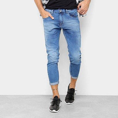 Calça Jeans Cropped Preston Barra Dobrada Masculina
