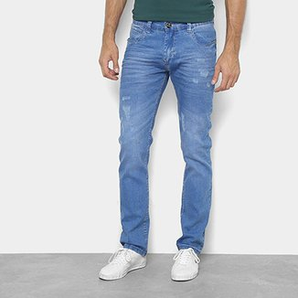 417d30159 Calça Jeans Skinny Preston Puídos Cintura Média Masculina