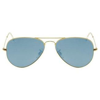 7fb66683d Óculos de Sol Ray-Ban Aviator 55 RB3025 Polar 002/58