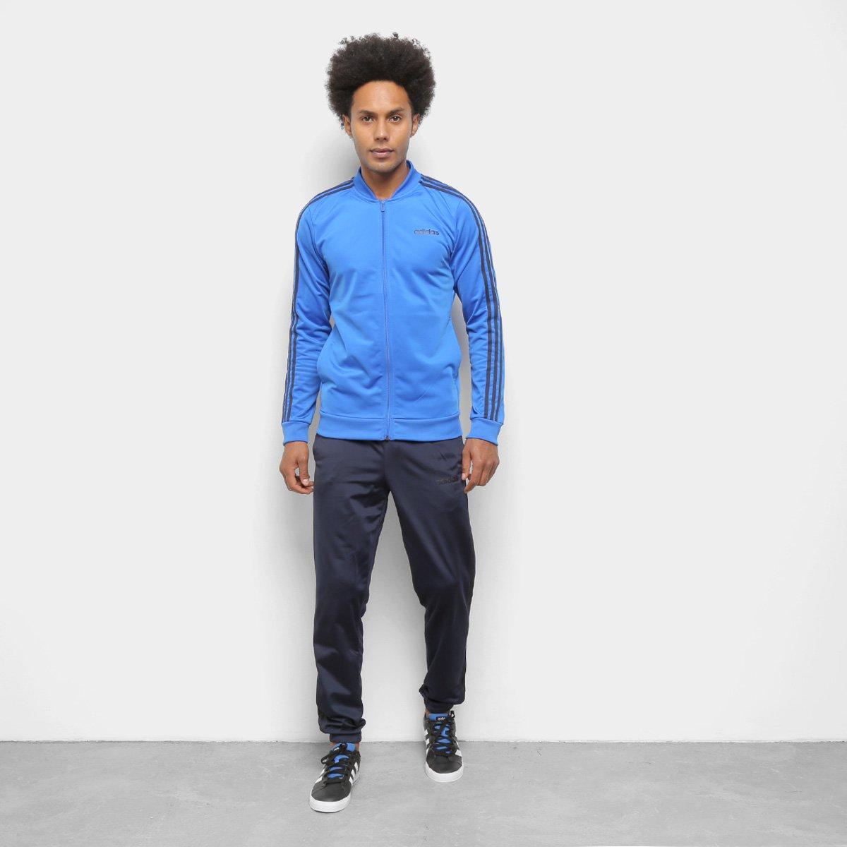 Agasalho Adidas Basic 3 Stripes Tracksuit Masculino