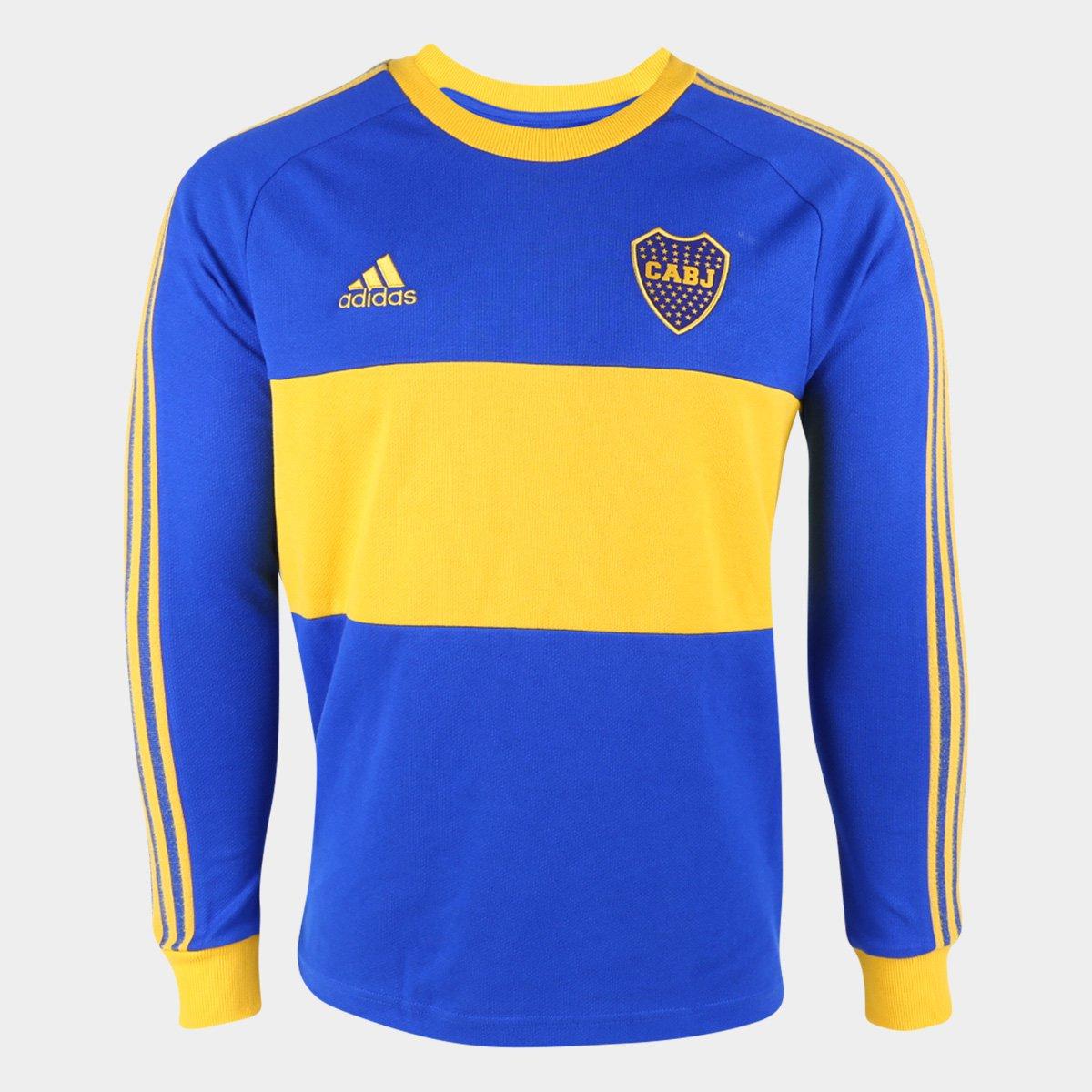 Camiseta Boca Juniors Adidas Manga Longa Masculina