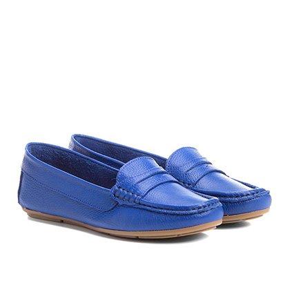 Mocassim Couro Shoestock Color Feminino