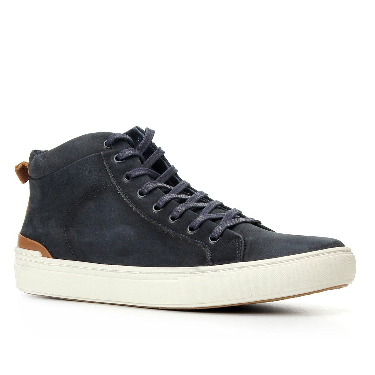 Sapatênis Couro Shoestock Cano Alto Masculino