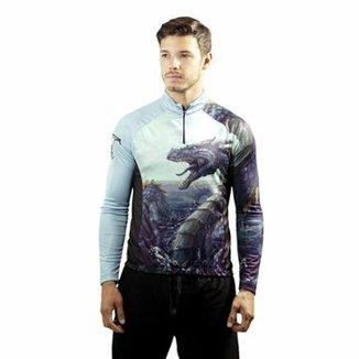 f641dc341 Camisa de Pescaria esportivo Proteção UV Hydra Refactor Masculina