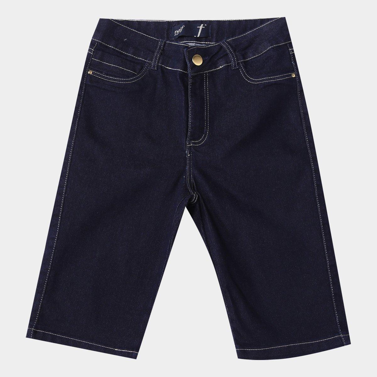 Bermuda Jeans Naiff Básica Feminina