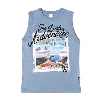 e31700d7b9d14 Camiseta Regata Infantil Para Menino Azul claro