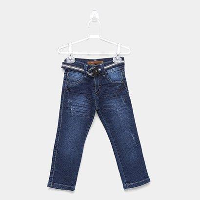 Calça Jeans Infantil Mox Cinto Masculina