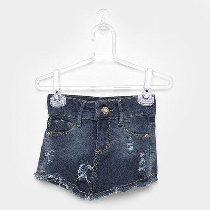 Short Saia Jeans Infantil Mox Feminino