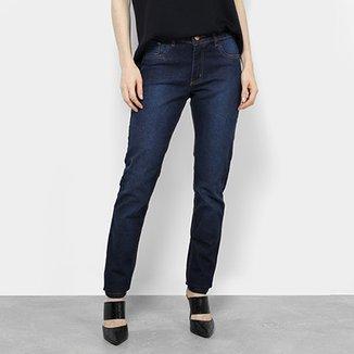 e40aef8aa50b4 Calça Jeans Skinny Zamany Escura Cintura Média Feminina